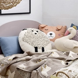 Sleeping Bear Cushion - Rose