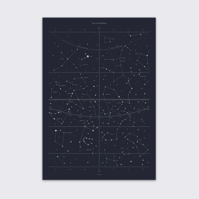 Star Constellations Print - Black
