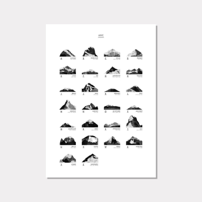 Mountain ABC Print