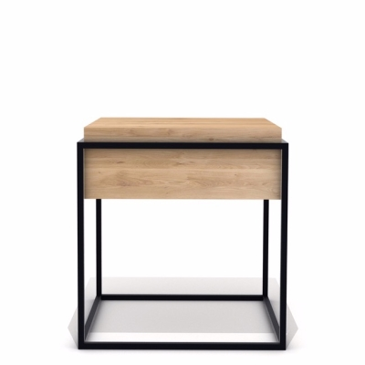 Monolit Side Table - Oak - Black Frame