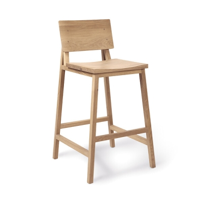 N3 Kitchen Counter Stool - Oak