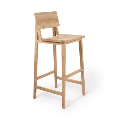 N4 Bar Stool - Oiled Oak