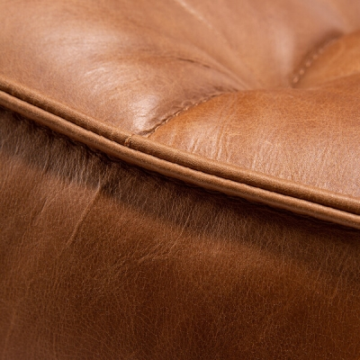 Sofa N701 Round Corner - Cognac Leather