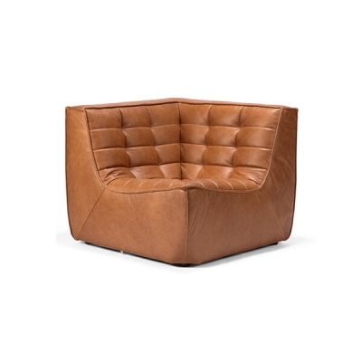 Sofa N701 Corner - Cognac Leather