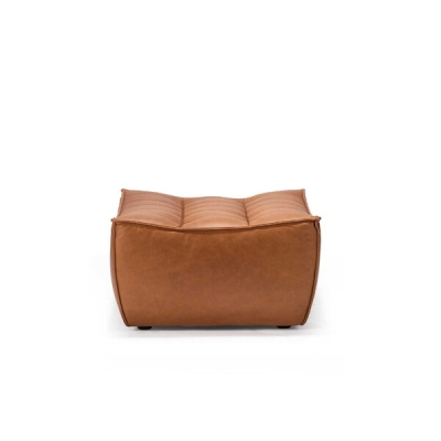 Sofa N701 Pouf - Cognac Leather
