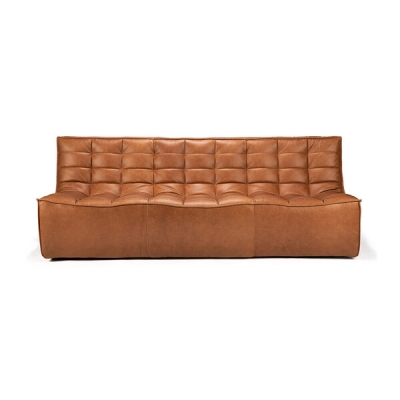 Sofa N701 3-Seater - Cognac Leather