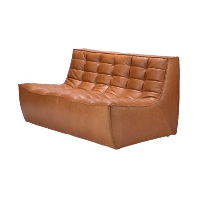 Sofa N701 2-Seater - Cognac Leather