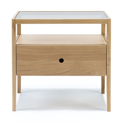 Spindle Bedside Table - Oak