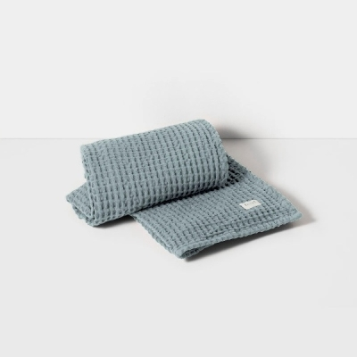 Organic Bath Towel - Dusty Blue