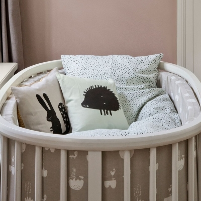Mint Dot Bedding - Junior
