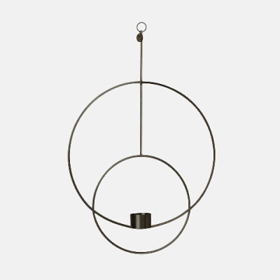 Hanging Tealight Deco Circular - Black