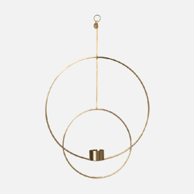 Hanging Tealight Deco Circular - Brass