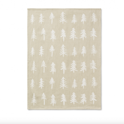 Christmas Tea Towel - Sand