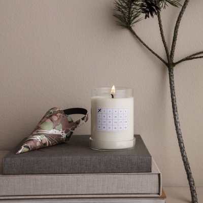 Scented Christmas Candle - White