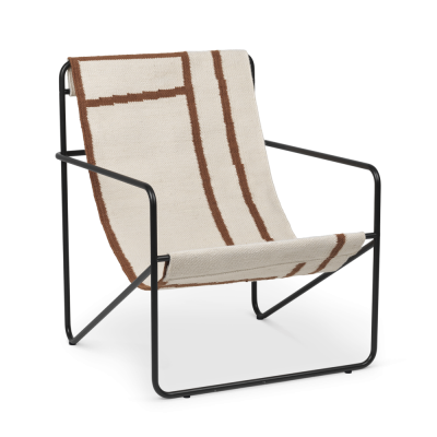 Desert Lounge Chair - Shapes - Black or Cashmere