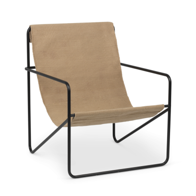 Desert Lounge Chair - Solid - Black or Cashmere