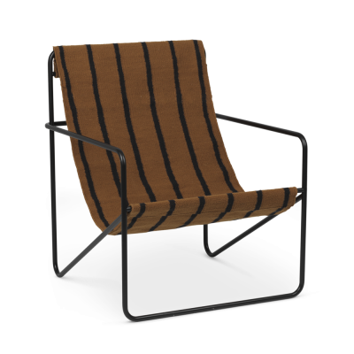 Desert Lounge Chair - Stripes - Black or Cashmere