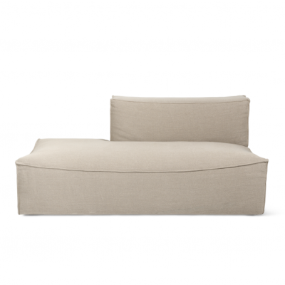 Catena Sofa with Open End - Rich Linen - Natural
