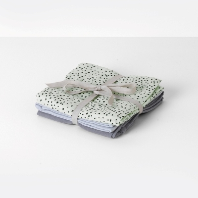 Muslin Diapers (set of 3) - Mint Dot