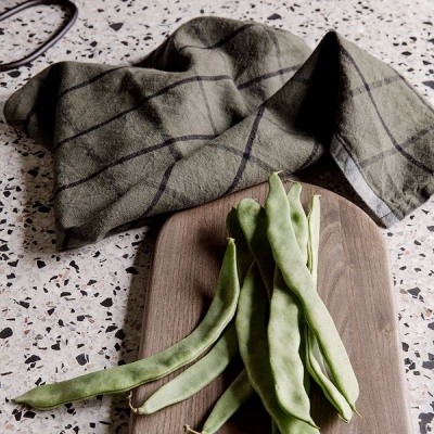 Hale Tea Towel - Green/Black