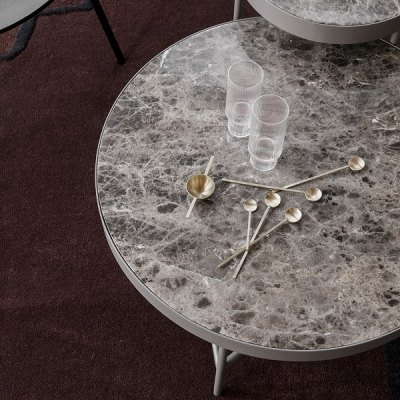 Marble Table - Brown - Large