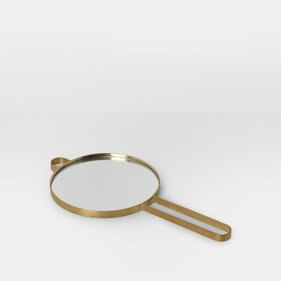 Poise Brass Hand Mirror