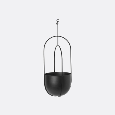 Hanging Deco Pot - Black