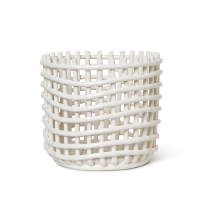 Ceramic Basket - Off White - Large