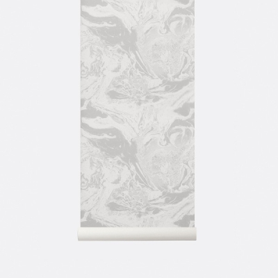 Marbling Wallpaper - Beige
