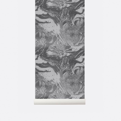 Marbling Wallpaper - Charcoal
