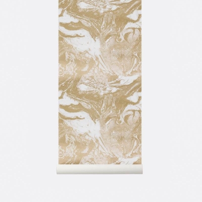 Marbling Wallpaper - Gold