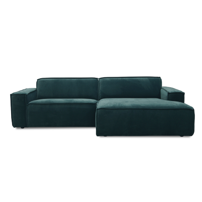 Edge Sofa with Divan - Royal 44 Turquoise