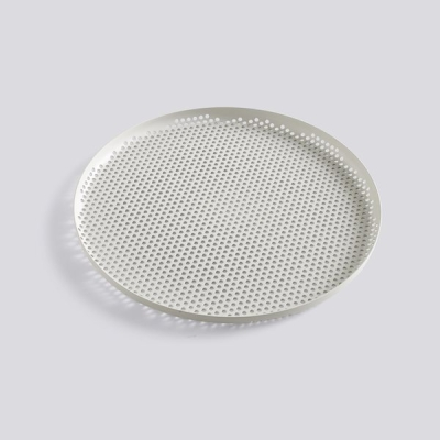 Perforated Tray - Large - Soft Grey