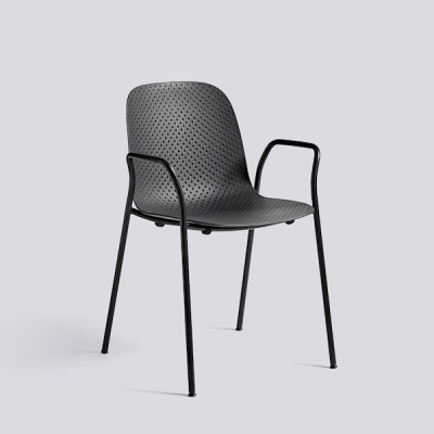 13Eighty Armchair - Graphite Black - Soft Black