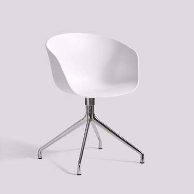 About A Chair AAC20 - Polished Base - White Shell