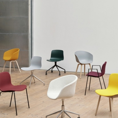 About A Chair AAC20 - White Aluminium Base (More Colours Available)