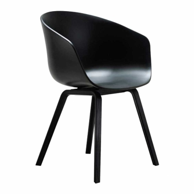 About A Chair AAC22 - Black Stained Base (More Colours Available)