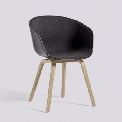 About A Chair AAC22 - Front Upholstery - Black Shell - Remix 183
