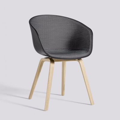 About A Chair AAC22 - Front Upholstery - Soft Black Shell - Surface By HAY 190