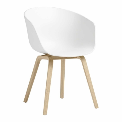 About A Chair AAC22 - Matt Lacquered - White