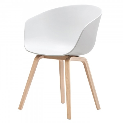 About A Chair AAC22 - Matt Lacquered Base - White (Fast Track)
