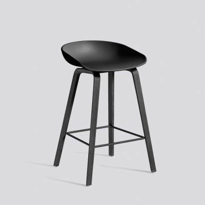 About A Stool AAS32 - H75 - Black Base - Black Shell (Fast track)