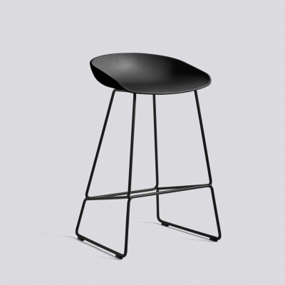 About A Stool AAS38 - H75 - Black Base - Black Shell (Fast Track)