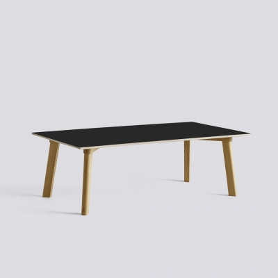 Copenhague Deux 250 Table - 120x60 - Oak Matt Lacquered Base