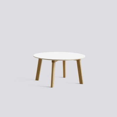 Copenhague Deux 250 Table - 75cm dia - Oak Matt Lacquered Base