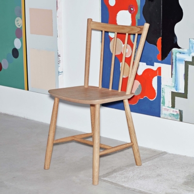 J41 Chair - Matt Lacquered Solid Oak