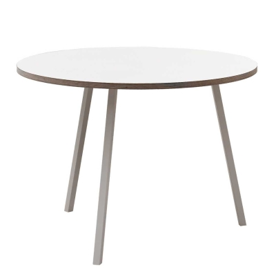 Loop Stand Round Table - 120 cm dia - Black/White
