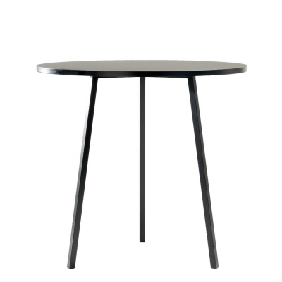 Loop Stand Round Table - High - Black/White