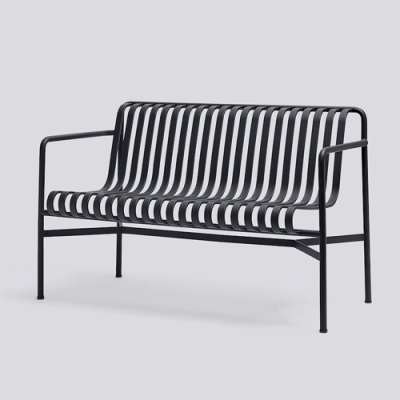 Palissade Dining Bench - Anthracite/Olive/Sky Grey