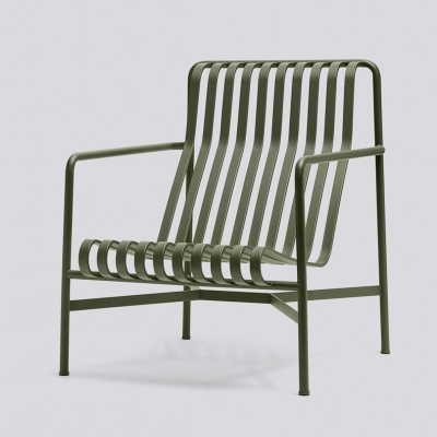 Palissade Lounge Chair High - Anthracite/Olive/Sky Grey